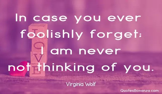 in case you ever foolishly forget i am never not thinking of you
