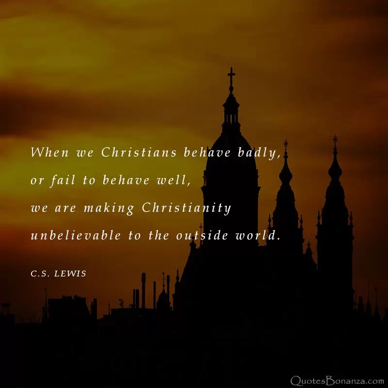 c s lewis quote about christians