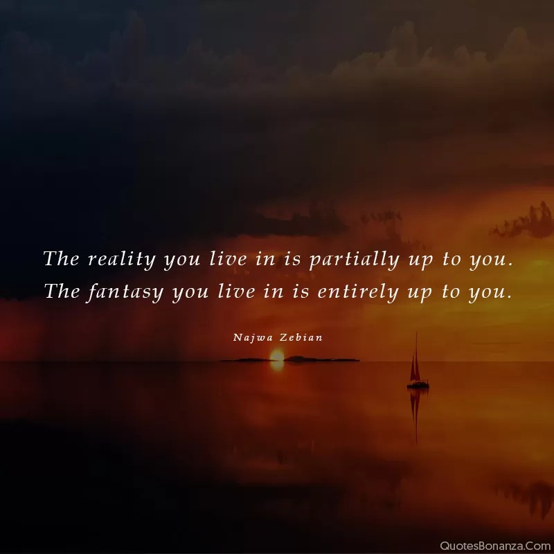 quote about reality by najwa zebian