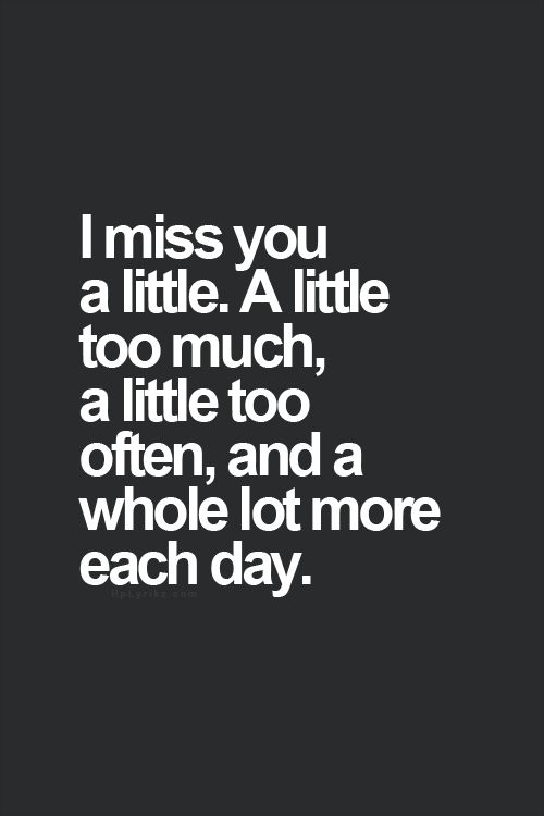 When you miss someone do they miss you too
