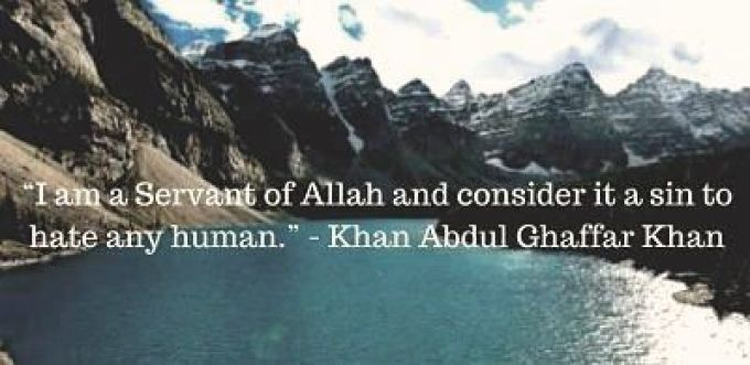 Bacha khan quotes about peace with image