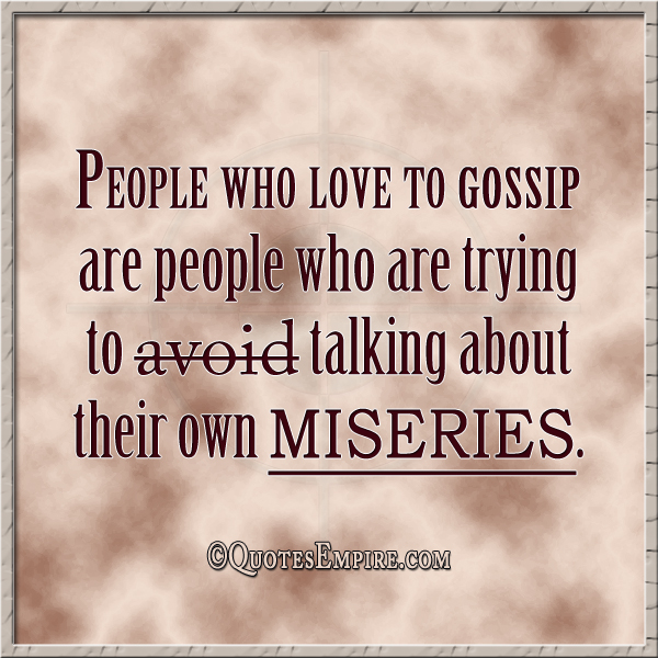 Gossip Quotes People