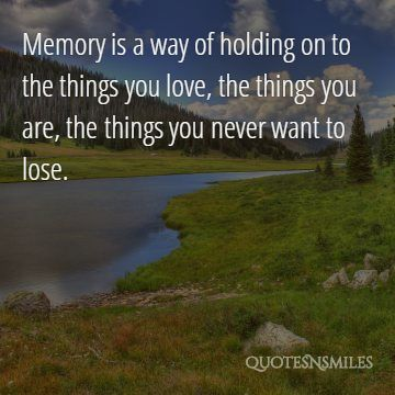 9.things you never want to lose memories picture quote