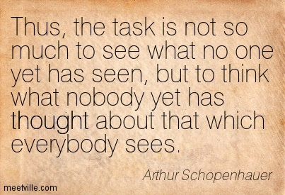 Image result for schopenhauer the task is