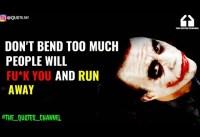 Joker Quotes  POWERFUL MOOD OFF QUOTES JOKER MOTIVATIONAL