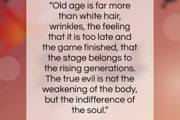 "Andre Maurois quote: ""Old age is far more than white…""- at QuotesQuotesQuotes.com"