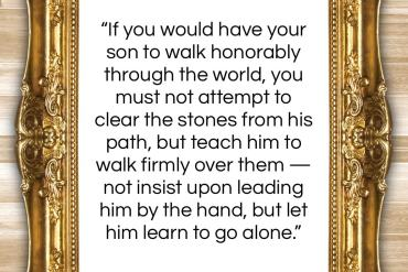 """Anne Bronte quote: """"If you would have your son to…""""- at QuotesQuotesQuotes.com"""