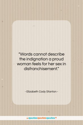 """Elizabeth Cady Stanton quote: """"Words cannot describe the indignation a proud…""""- at QuotesQuotesQuotes.com"""