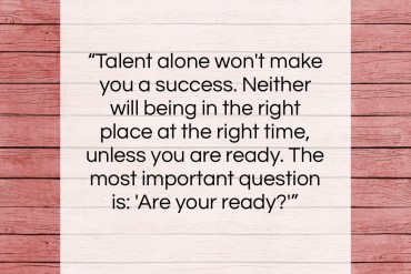 "Johnny Carson quote: ""Talent alone won't make you a success….""- at QuotesQuotesQuotes.com"