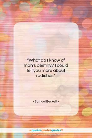 "Samuel Beckett quote: ""What do I know of man's destiny?…""- at QuotesQuotesQuotes.com"