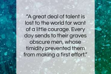 "Sydney Smith quote: ""A great deal of talent is lost…""- at QuotesQuotesQuotes.com"