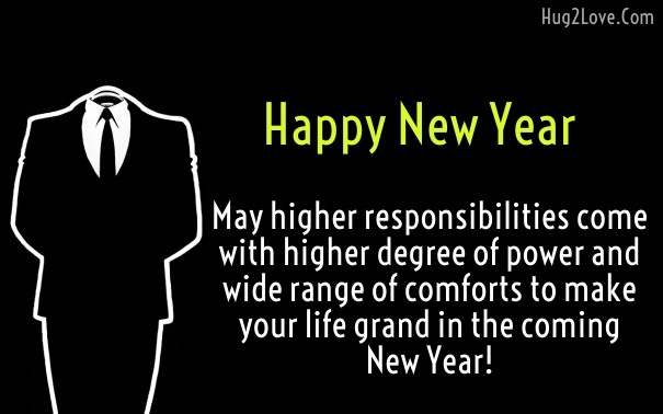 Business New Year wishes to customers