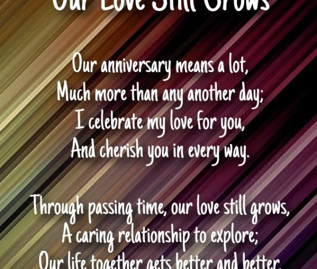 Wedding Anniversary Poems For Him
