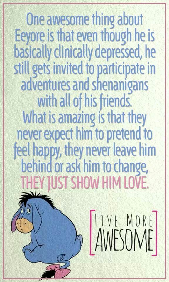 Unconditional Love Quotes For Him Adorable Sad And Depressing Quotes Awww  All About Eeyore  Winnie The