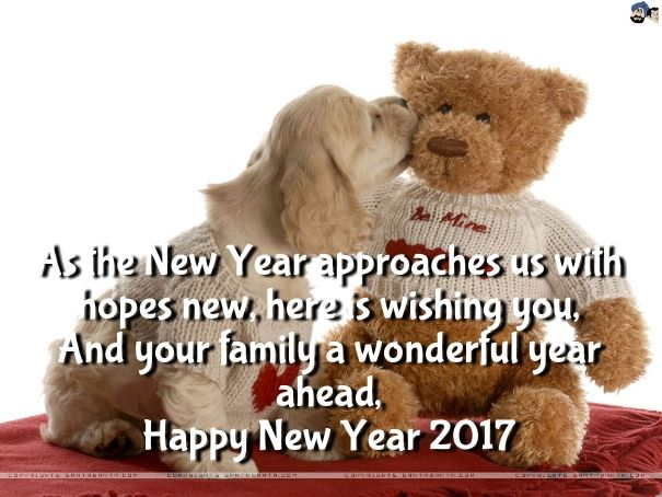 Happy New Year 2018 Quotes Cute Teddy Bear Wallpapers 2017