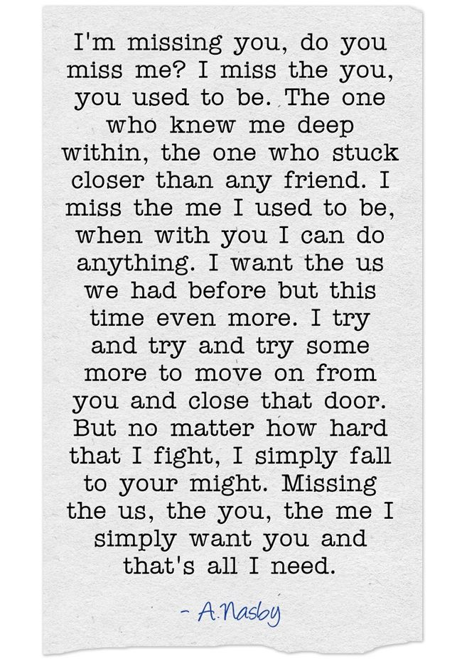 Breaking Up And Moving On Quotes :I\'m missing you, do you ...