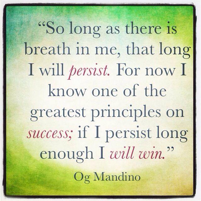 Og Mandino Quotes Custom Og Mandino Quotes Og Mandino Persistence QuotesViralnet
