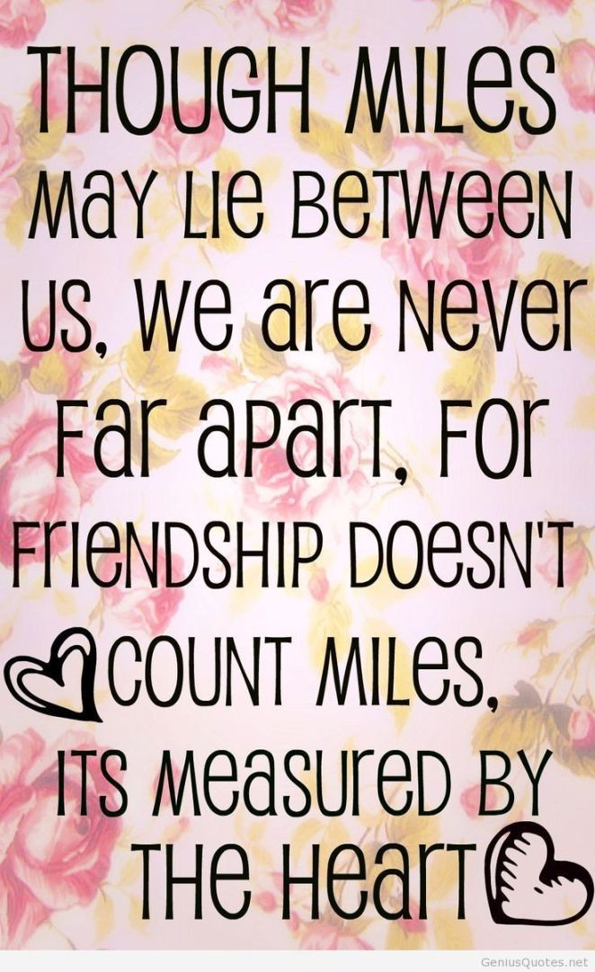Friendship Quotes Tumblr Long Distance Friendship Quote by ...
