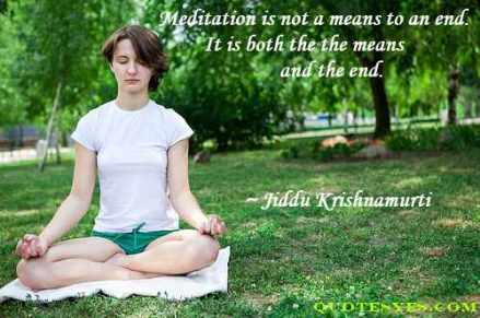 Meditation means quote