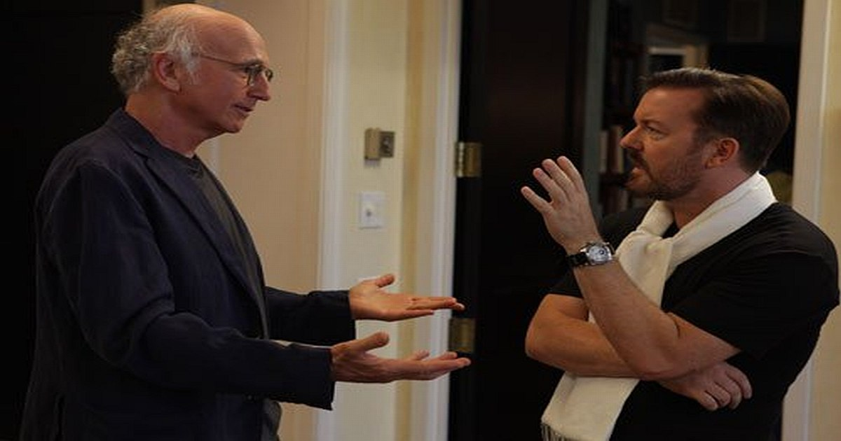 Watch Ricky Gervais Meet Larry David (VIDEO)