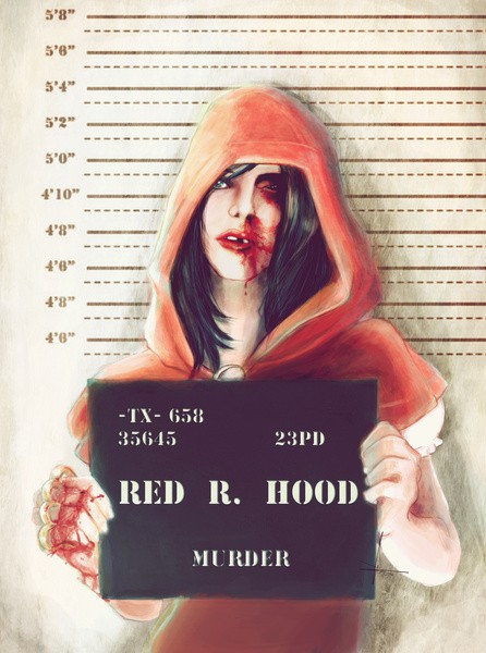 Little Red Riding Hood Mugshot