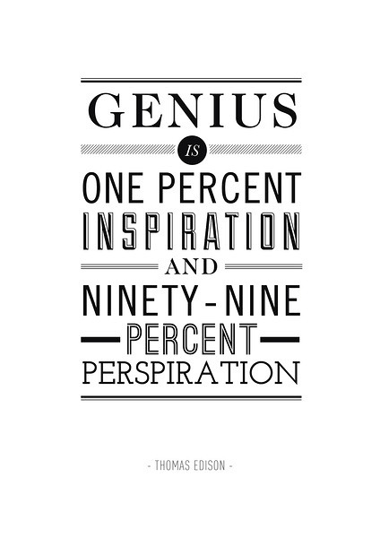 Thomas Edison Quote Art Print