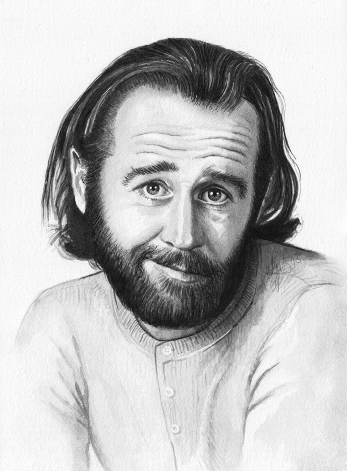 George Carlin drawing