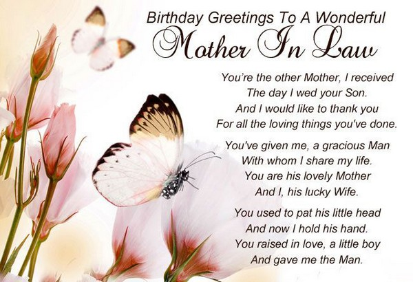 Heart Touching Birthday Wishes To Mother In Law