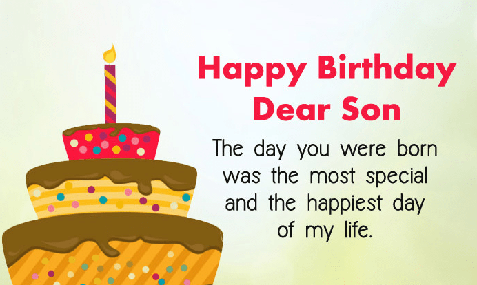 Happy Birthday Wishes For Son Birthday Wishes For Son From Mom