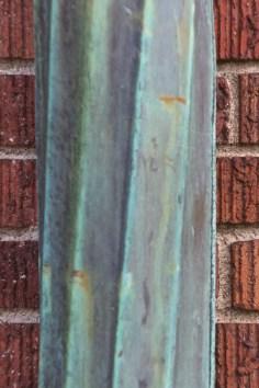 Drainpipe on brick