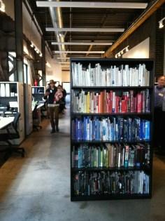 Color-coordinated bookshelf