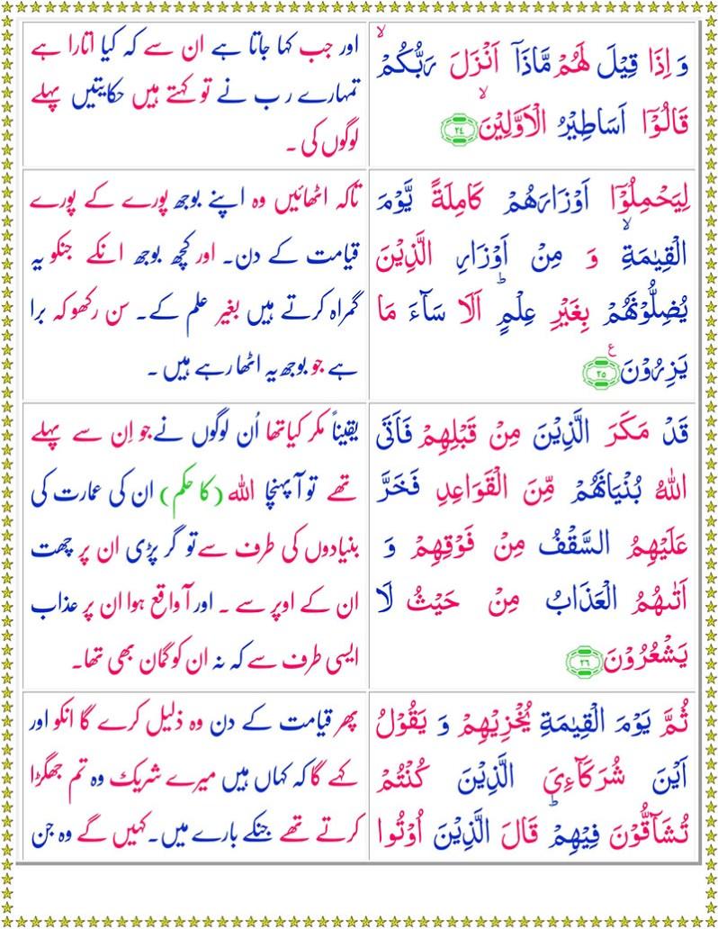 Read Surah Al-Nahl Online