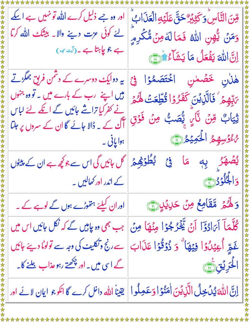 Read Surah Al-Hajj Online