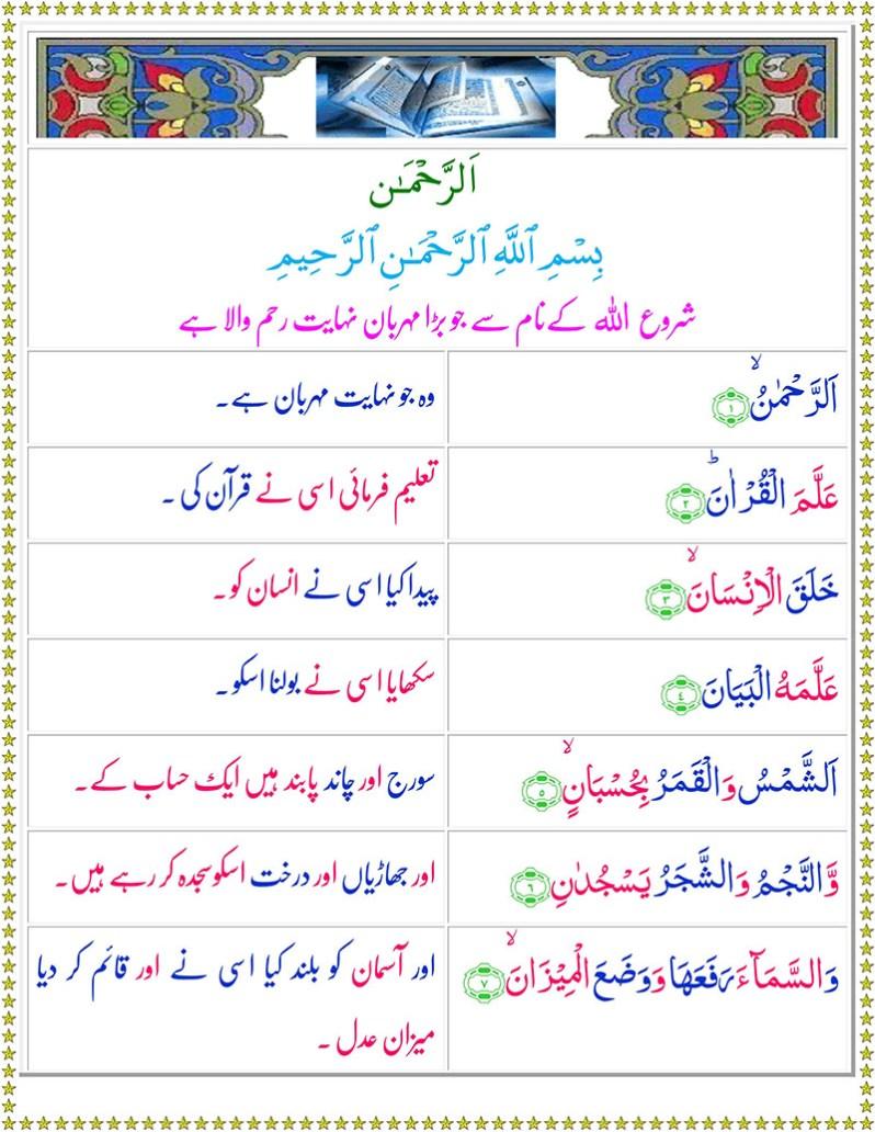 Read Surah Ar-Rehman Online