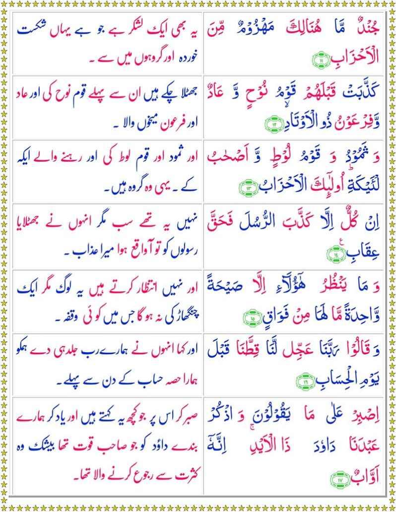 Read Surah Suad Online