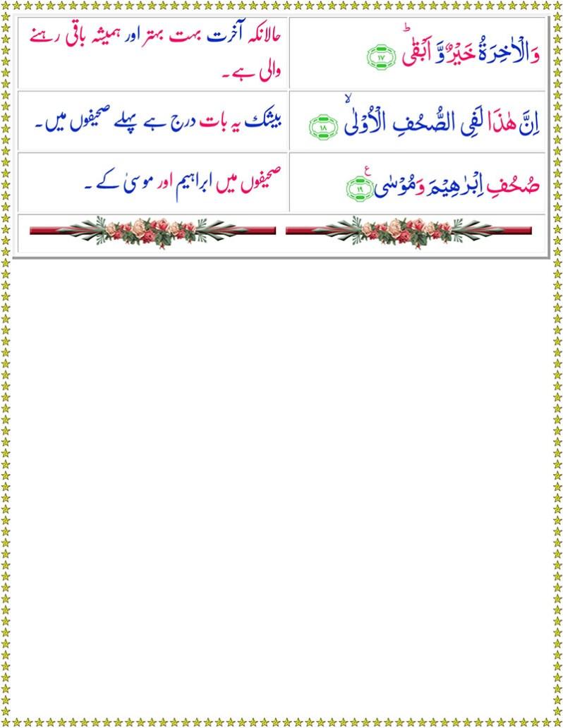 Read Surah Al-Ala Online