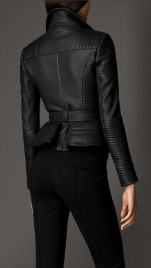 Zip Detailed Biker Leather Jacket 2