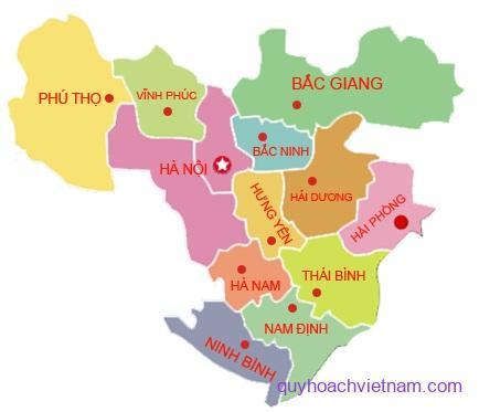 Các tỉnh vùng đồng bằng sông Hồng