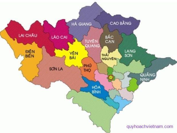 Bản đồ các tỉnh miền Bắc Việt Nam