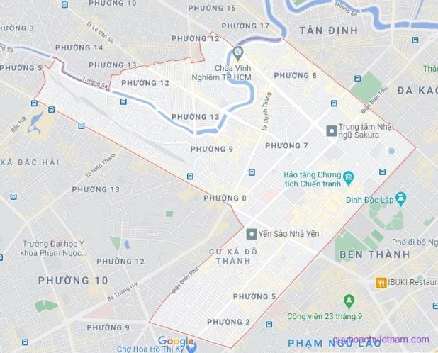 Bản đồ quận 3 Sài Gòn