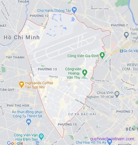 Bản đồ quận Tân Bình Sài Gòn