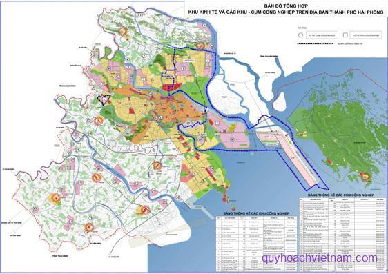 Bản đồ quy hoạch khu công nghiệp tại Hải Phòng