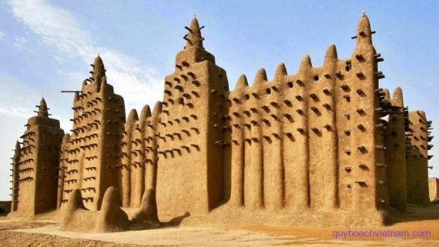 Nhà thờ Lớn Great Mosque ở Djenne, Mali