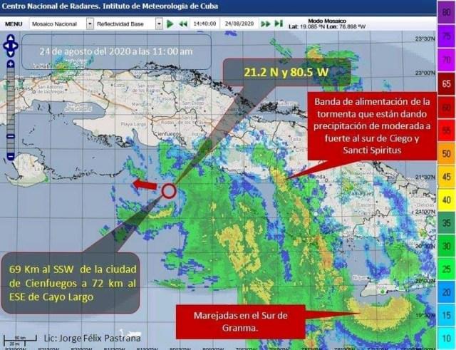 Fase de alarma ciclónica para el occidente de Cuba