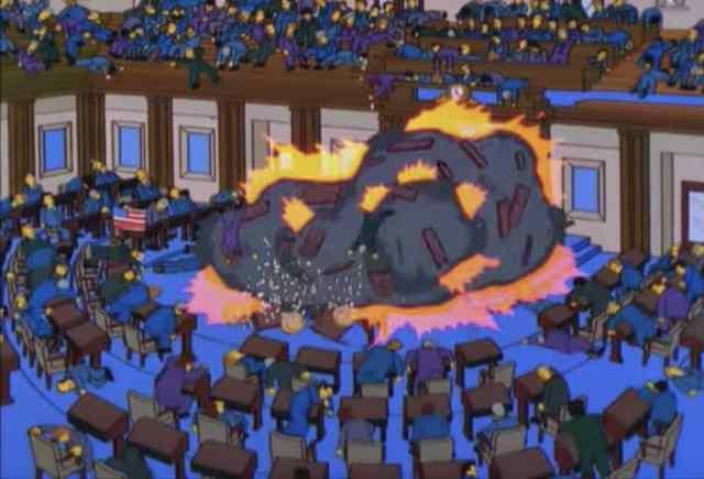 Los Simpson lo volvieron a hacer: disturbios en el Capitolio de Estados Unidos ocurrieron en la popular serie