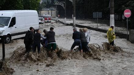 Muertes y heridos por inundaciones en Rusia