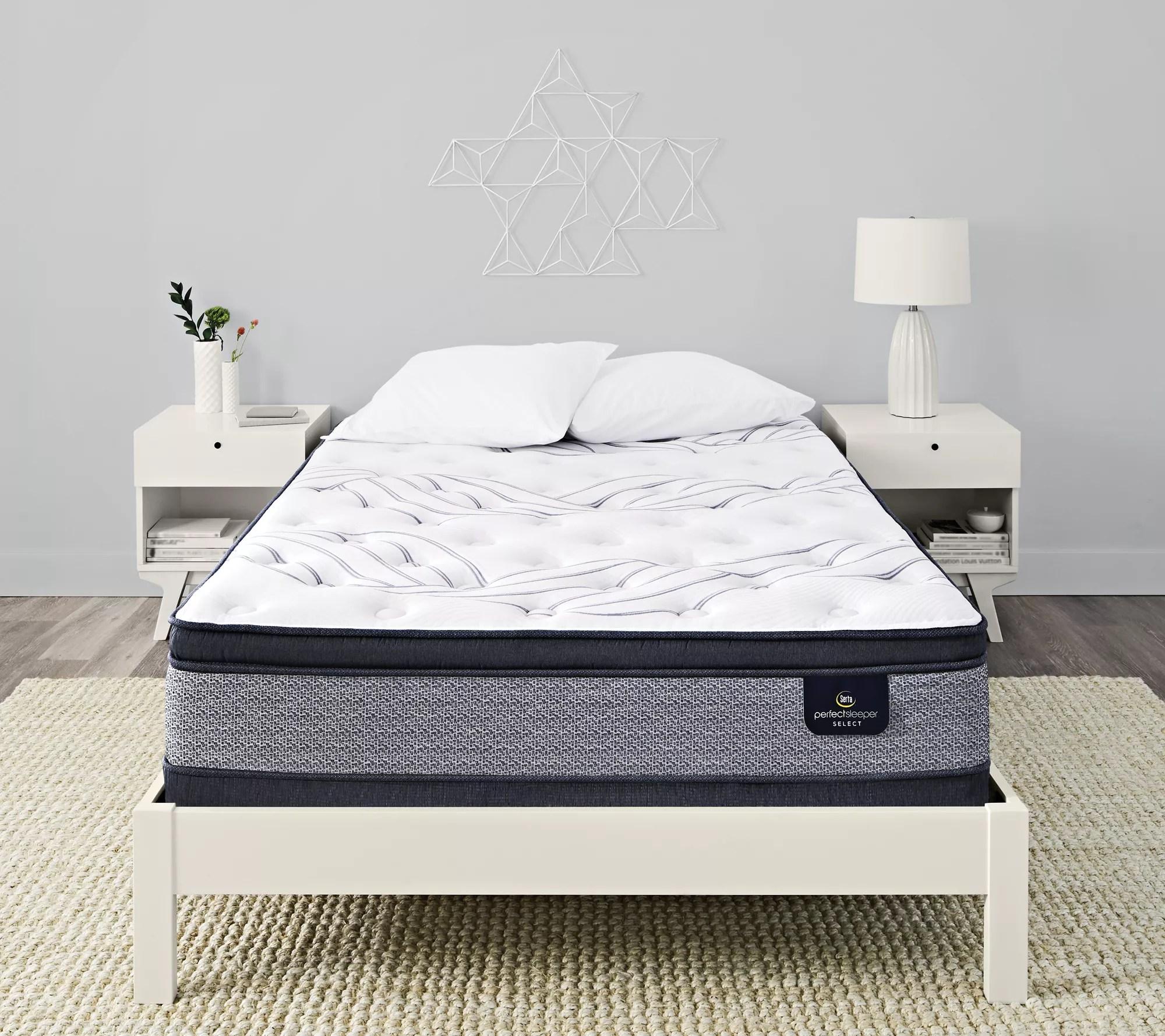 serta perfect sleeper 13 5 full dayla pillowtop mattress set qvc com
