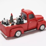 Mr Christmas Santa In Red Truck With Animated Scene Qvc Com
