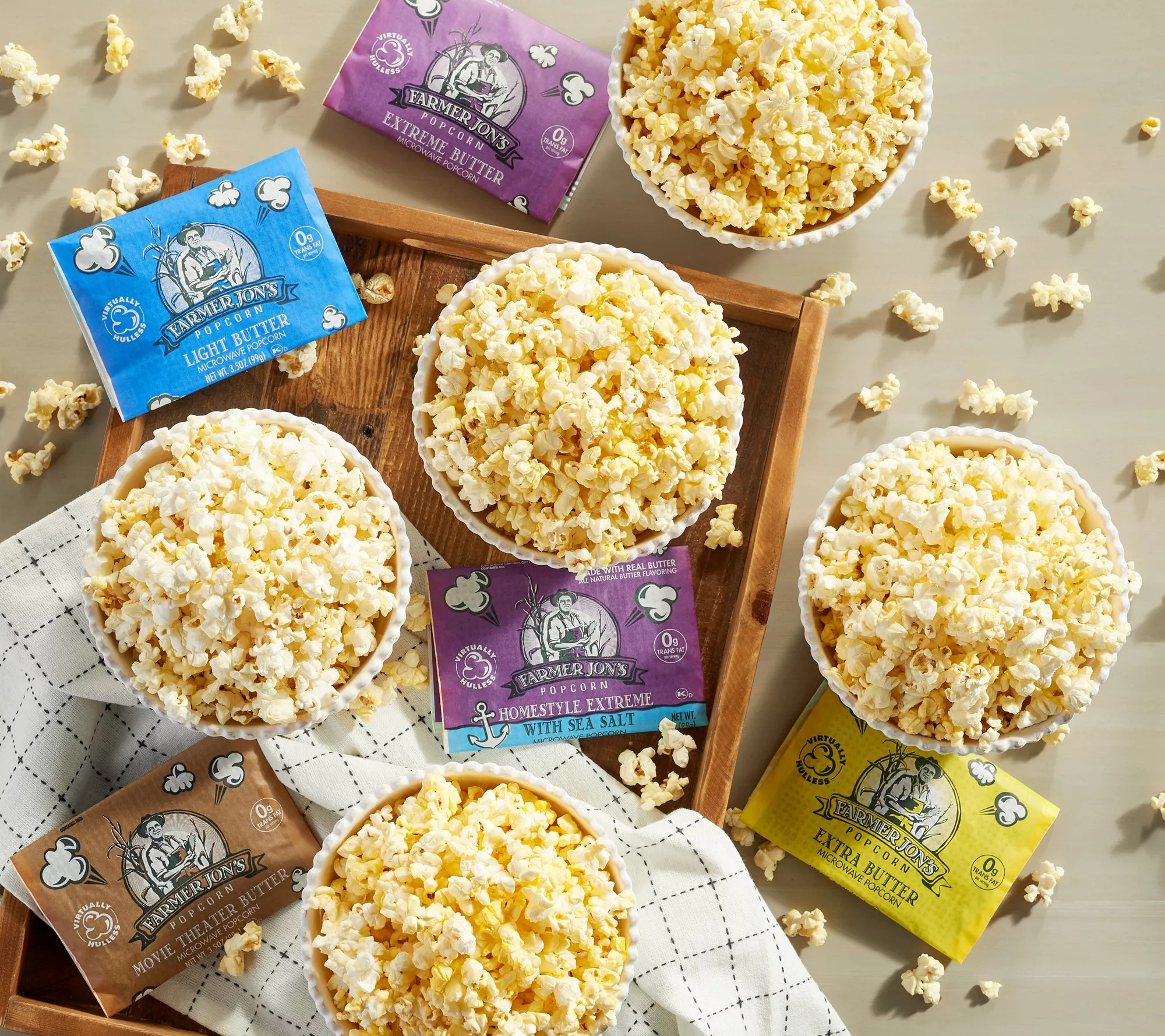 farmer jon s 20 3 5 oz virtually hulless popcorn qvc com