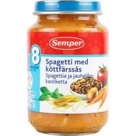 Sempers Spaghetti med köttfärssås. Delikat!